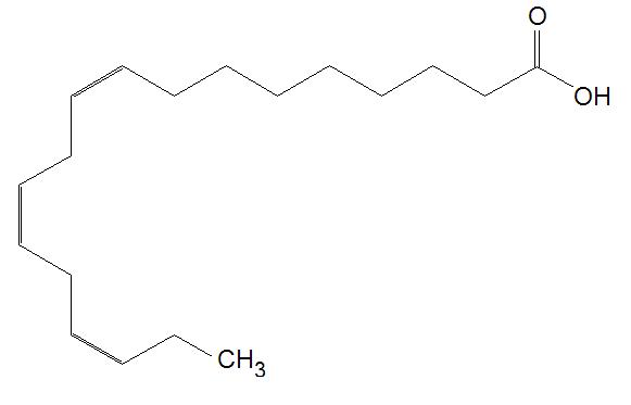 Figure 1. The structure of the essential fatty acid α-linolenic acid ...