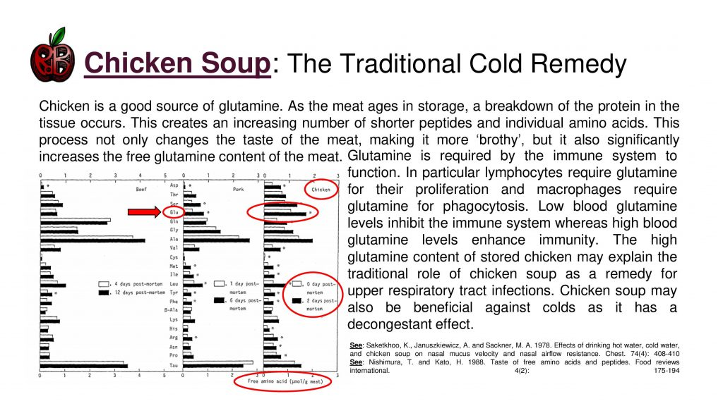 chicken soup colds