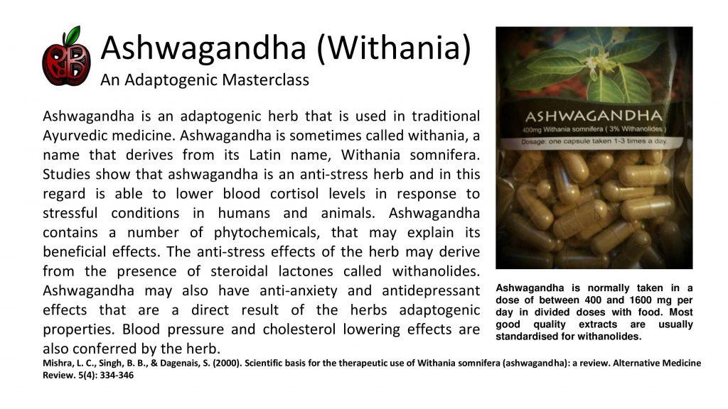 ashwagandha anxiety depression