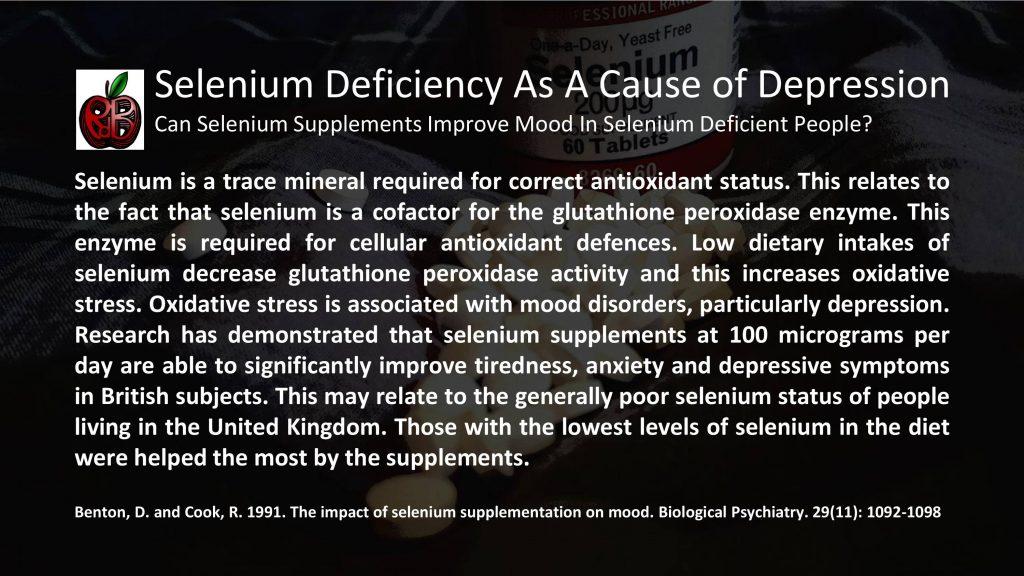 selenium depression anxiety mood