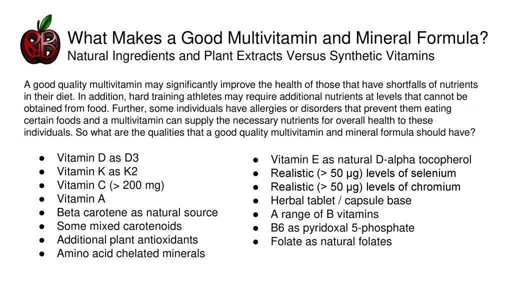 multivitamin mineral
