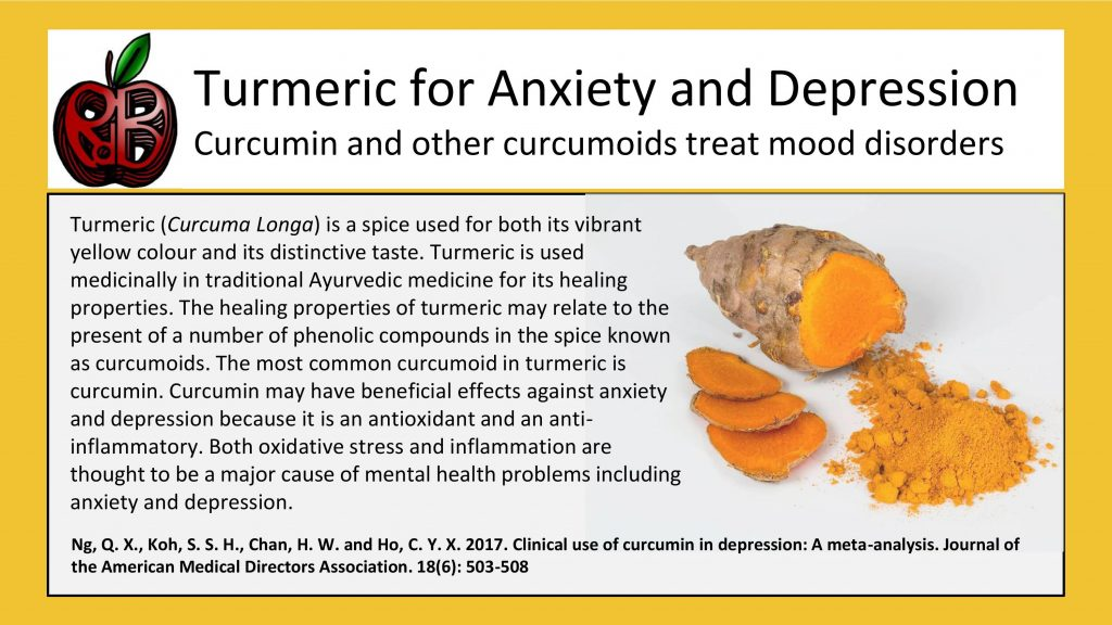 turmeric curcumin anxiety depression