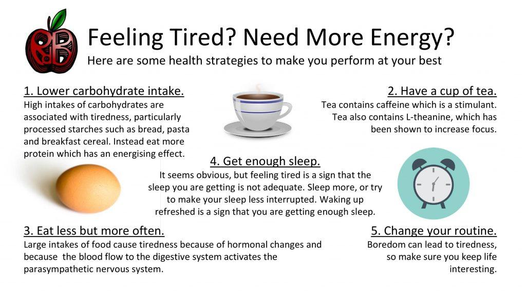 health energy tiredness