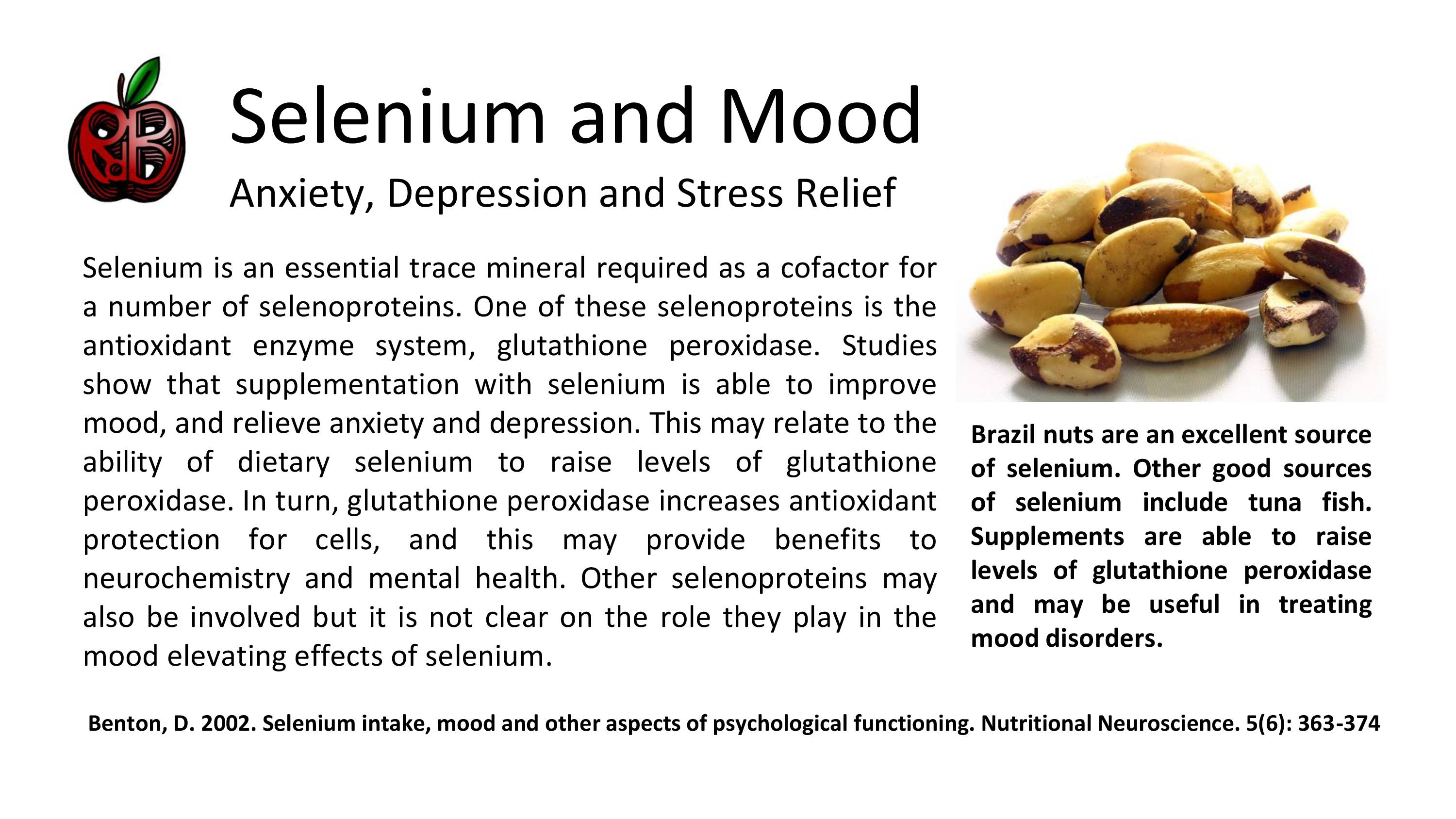 selenium mood anxiety depression